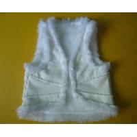 Buy cheap Suede And Fur Joint Winter Vest Jackets , Warm Womens Sleeveless Vest Jacket product