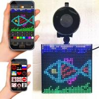 China P4 RGB 5''x 5'' Full color wireless blue tooth App control Emoji smiley Emotion faces LED car display on sale
