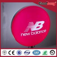 Buy cheap Custom 3d round thin light led box in any size for export store signal;export product
