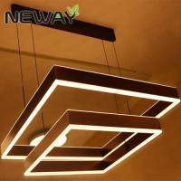 Buy cheap Modern Led Pendant lamps Direct Indirect Lighting 600x600 800x600MM Led Pendant Light Square Led Suspensnion Lamp product