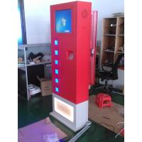 China Coin Acceptor Mobile Phone Charging Stations touch screen for public on sale