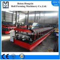 Buy cheap Trapezoidal Profile Floor Deck Roll Forming Machine With Punching 30 Rows Roller product