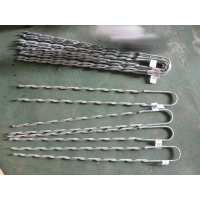 Buy cheap 901mm Wire Clamp Galvanized Preformed Guy Grip Dead End from wholesalers