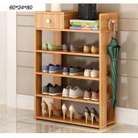 Quality Simple style Wood grain Particle Board Shoe cabinet with many racks for choose for sale
