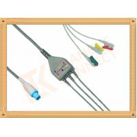 Medical Hellige Ecg Patient Cable 10 Pin Grabber IEC 3 Leads
