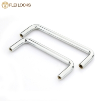 China Chrome Plated Steel Cabinet Door Handle on sale