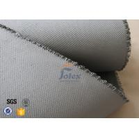 Buy cheap Grey 1500gsm 1.5mm E Glass Cloth , Silicone Coated Fiberglass Cloth Sheets product