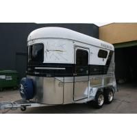 China China made horse trailer with best price  2 and 3 horse loading horse trailer exporting to Australia on sale