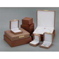 Buy cheap Brown Pu Leather Jewellery Box 5 Pcs / Set ,  Every Jewelry Box With Outer  Box product