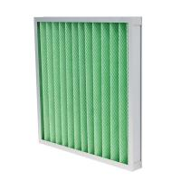 Buy cheap G4 Panel Pre Air Filter Low Primary Resistance Cover Both Sides With Metal Mesh product