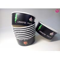 Buy cheap 32oz Black Background Paper Salad Bowls Eco Friendly take out salad containers 44oz product
