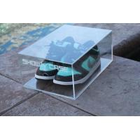 Buy cheap Clear Acrylic Shoe Box with printing Logo product