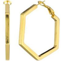 Buy cheap Party Large Gold Hoop Earring wedding jewelry with Hexagon Shaped product
