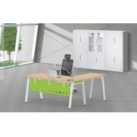 Buy cheap A3060 leg L shape office furniture desk with wooden top and cabinet product