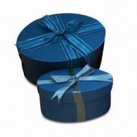 Buy cheap Beautiful Gift Boxes, Made of Art, Special/Corrugated Paper/ White, Black/Grey Cardboard product