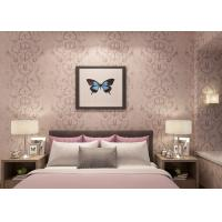 Buy cheap Embossed Light Pink Living Room Wallpaper with Washable Vinyl Material , CE ISO Listed product
