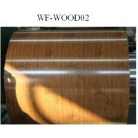 Quality Wood Patterned Painted Aluminum Coil Fire Resistance DX5ID Grade for sale