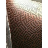 Buy cheap 304 Hairline Bronze Stainless Steel Plate Copper Plating Sheet Brass Color from wholesalers