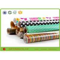China Metallic Wrapping Paper Roll With Stars / Bows , Decorative Cute Wrapping Paper on sale