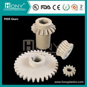 China Plastic Gears PEEK Gears With Good Wearing Resistance on sale