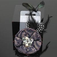 Buy cheap Brooch, Made of Zinc Alloy with Jean Flower, 3cm Stitch Length product