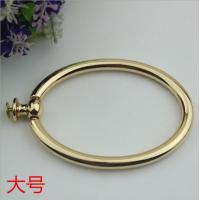 Buy cheap Unique fashion handbag hardware light gold metal circle handle for tote bag product