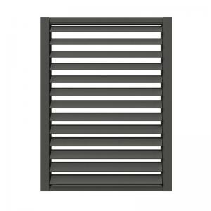Buy cheap Soundproof Fiberglass Louvered Doors , Grey Aluminium Door With Louvers product