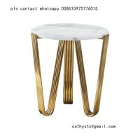 China marble table titanium gold stainless steel metal base or leg on sale