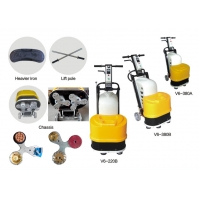 Buy cheap Two Grinding Plates 380V Three Phase Terrazzo Concrete Grinding Machine product