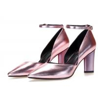 Buy cheap Pointed Toe Metallic Leather Pumps , Ankle Strap D Orsay Pump Rubber Outsole product