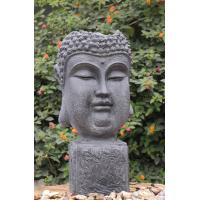 China Outside Garden Buddha Head Fountain / Asian Outdoor Fountain With CE GS TUV UL wholesale