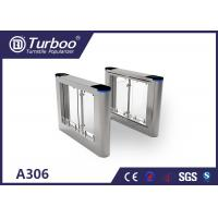 Buy cheap High security pedestrian swing barrier turnstile for Office building turnstiles product
