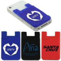 Buy cheap wholesale customized logo print promotional silicone smart card pocket wallet with 3m adhesive product