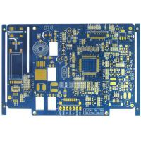 Buy cheap Blue 4 Layer FR4 Flash Gold Bare Rigid PCB Board Fabrication High Precision product