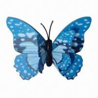 Buy cheap 3D Flying Butterfly Fridge Magnet/Decoration with 2-layer Wing, Sticking and from wholesalers
