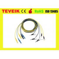 Buy cheap Pure sliver eeg electrode , DIN1.5 socket, colorful Neural Feedback EEG cable product