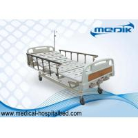 China Mobile Manual Hospital Bed For General Ward , Aluminum Alloy Side Rails wholesale