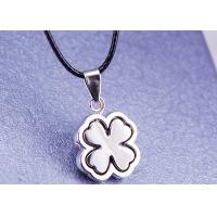 Buy cheap Female Gift Stainless Steel Fashion Jewelry 4 Leaf Clover Necklace With Leather Rope product