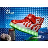 Buy cheap White And Red Winter Childrens LED Shoes Unisex Sport Kids LED Shoes product
