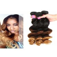 China 12'' - 30'' Body Wave Ombre Curly Hair Extensions , Ombre Micro Loop Hair Extensions on sale
