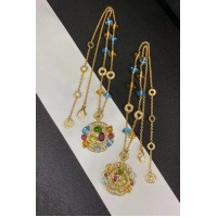 Buy cheap Astrale Large pendant necklace, 18k yellow gold, inlaid with blue topaz, amethyst, green tourmaline, peridot, citrine product