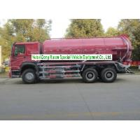 Buy cheap Sinotruk Howo 18000L Sewage Suction Truck With Vacuum Pump 10 Wheeler product
