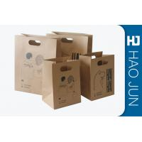 Buy cheap Professional Kraft Paper Gift Bags With Handles , Matt Lamination product