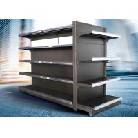Buy cheap Brown and white color supermarket display equipment adjustable and fashionable gondola with OEM design from wholesalers