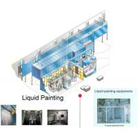 Buy cheap Automated Spray Coating Production Line Design For Liquid Painting Plant 2.5 m/min product