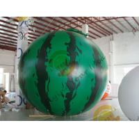 Buy cheap 4m diameter watermelon Fruit Shaped Balloons Rainproof / Fireproof product