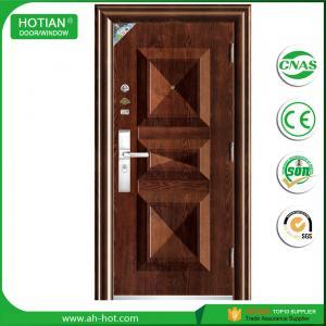 Buy cheap new design steel single main door design wrought iron grill door product