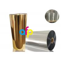 Buy cheap BOPP Thermal Metalized FilmVarious Color 52 Dynes Double Corona Treatment product