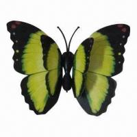 Buy cheap 3D Flying Butterfly Fridge Magnet/Decoration with 2-layer Wing, Sticking and Moving Easily product