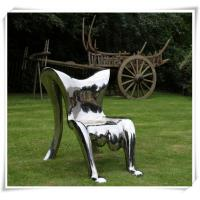 Buy cheap Modern Polished Garden Chair Stainless Steel Furniture Sculpture product